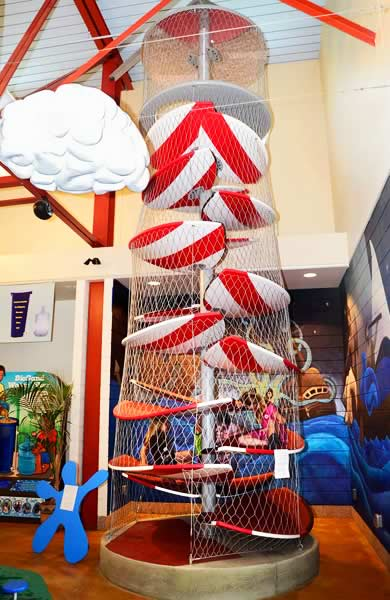 Lighthouse Climbing Tower: Exhibit at the Curious Kids' Museum & Discovery Zone