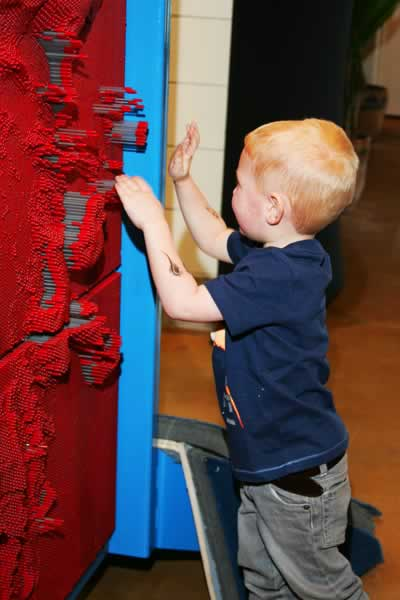 Pin Wall: Kids exhibit at the Curious Kids' Museum & Discovery Zone